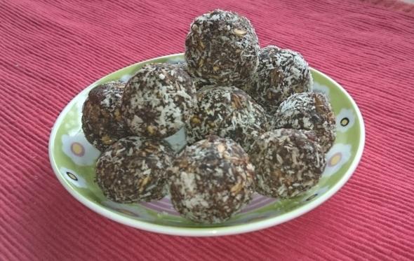 Zdrave čokoladne kroglice
